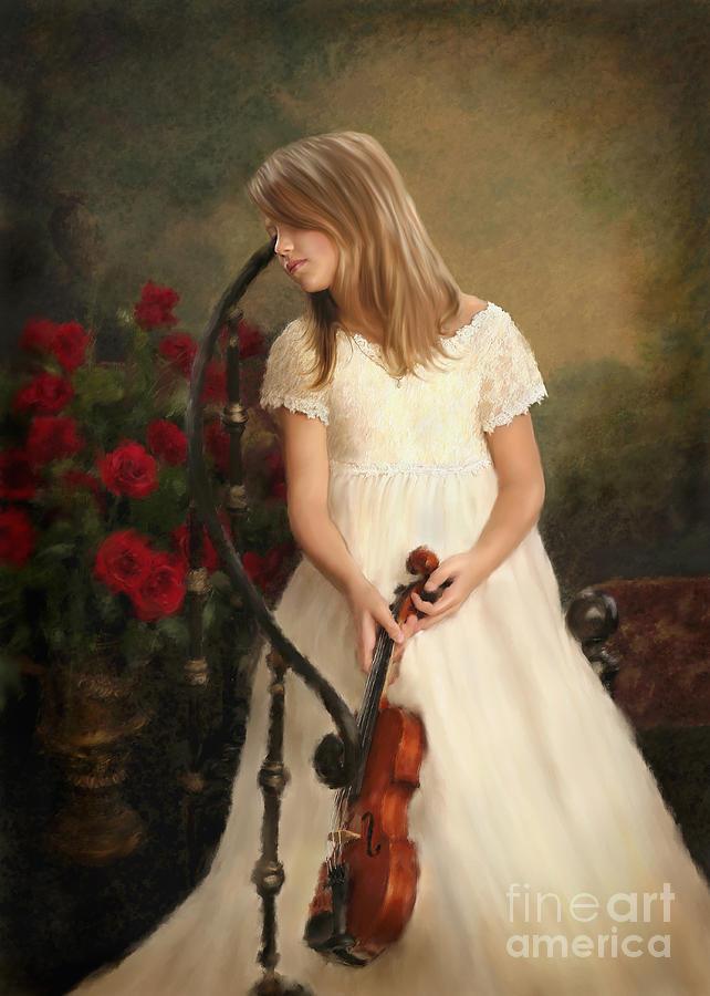 Portrait Mixed Media - Custom Portrait06 by Dawn Serkin