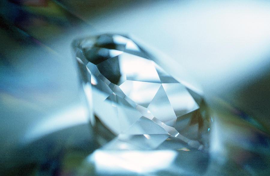Cut Diamond Photograph - Cut Diamond by Pasieka