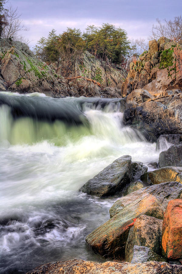 Great Falls Park Photograph - Cutting Through The Rock by JC Findley