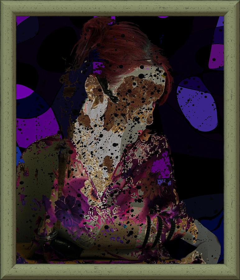 Girl Digital Art - cybergeisha II by Adam Kissel