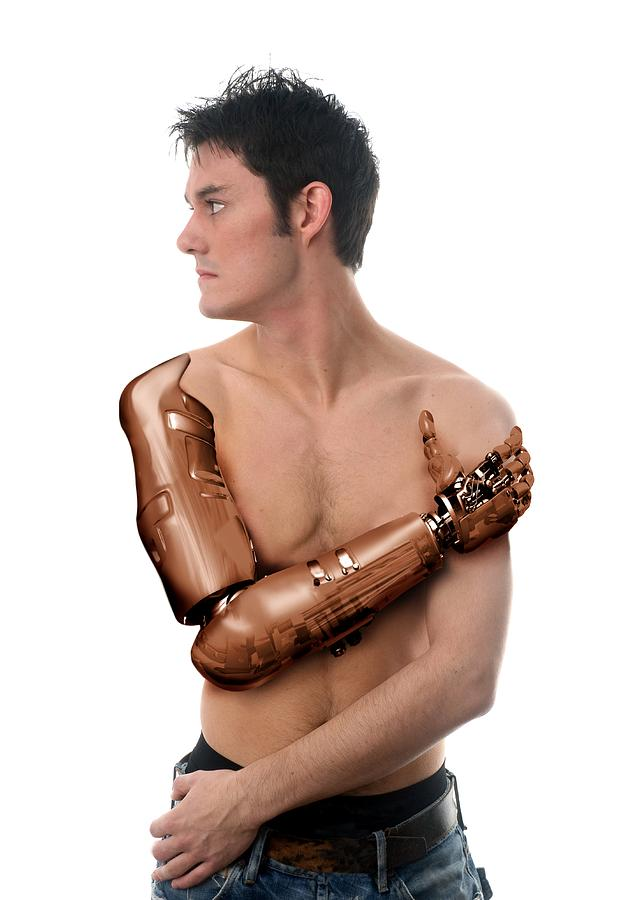 Human Photograph - Cybernetic Arm, Composite Image by Victor Habbick Visions