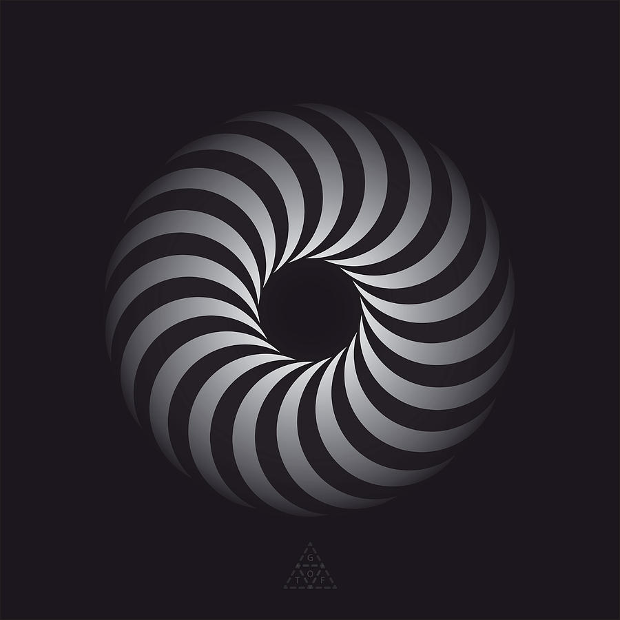 Optical Digital Art - Cycle Optic V2.2 by Guardians of the Future