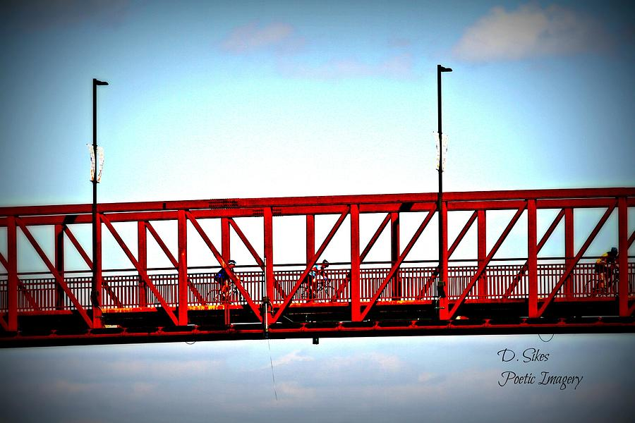 Red Photograph - Cyclers by Debbie Sikes