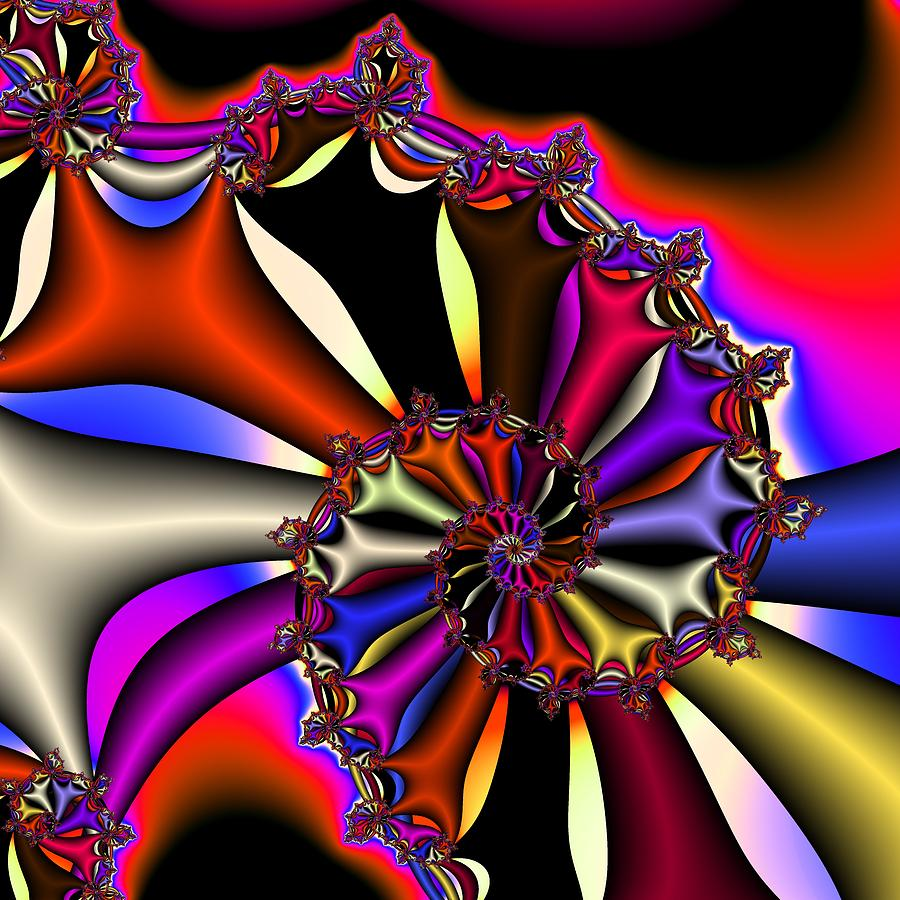 Cyclone Digital Art - Cyclone Of Color by Christy Leigh