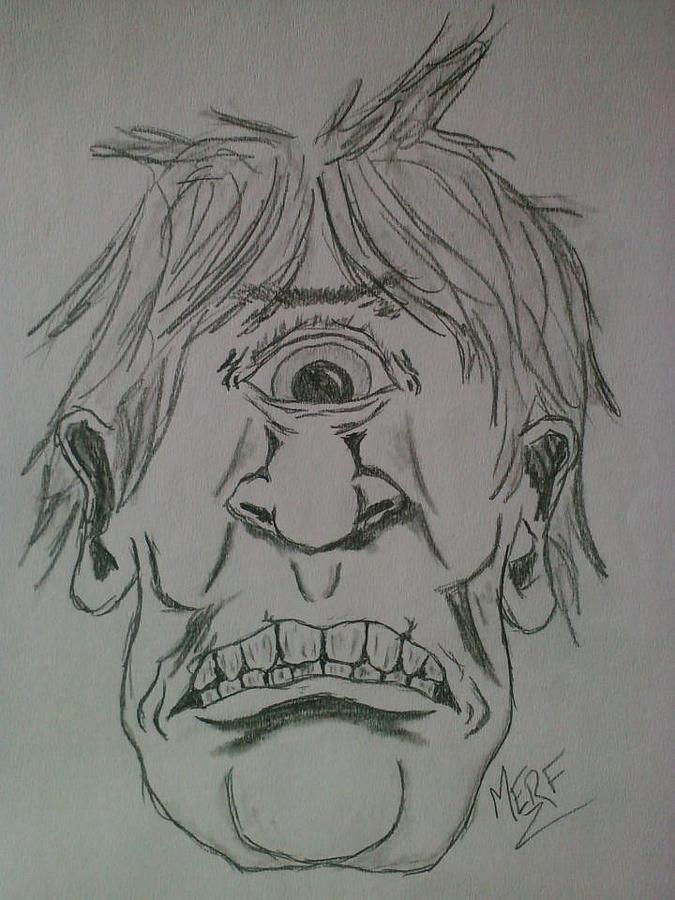 Cyclops Drawing By Danny Merrifield