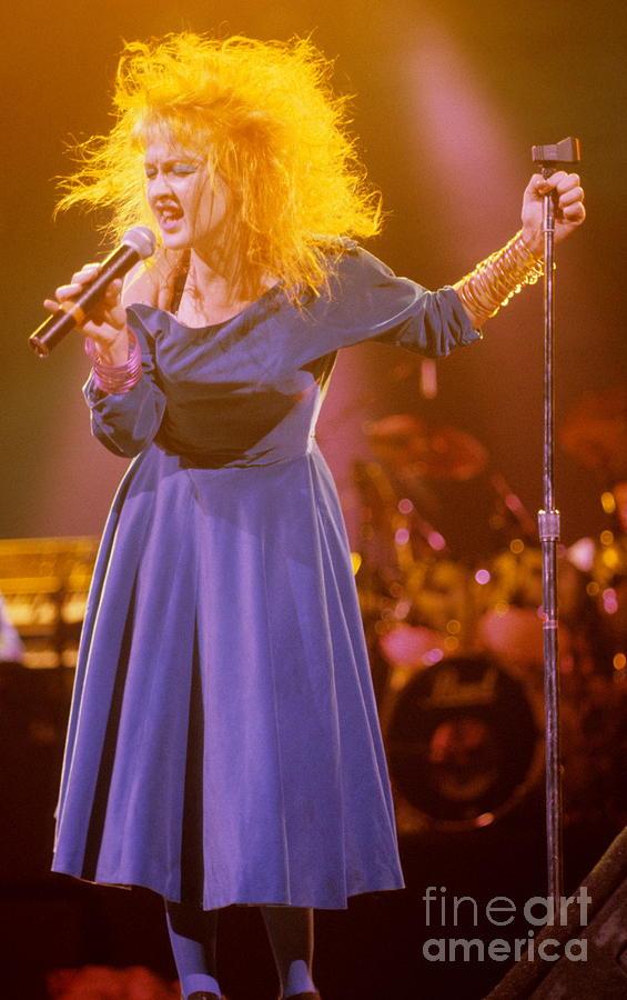 Cyndi Lauper Photograph - Cyndi Lauper by David Plastik