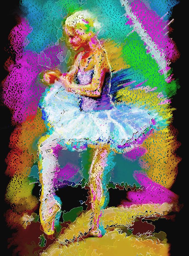 Ballet Painting - Cynthia Ballet Self Portrait by Cynthia Sorensen