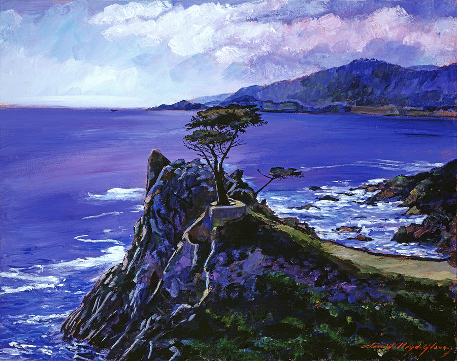 Seascape Painting - Cypress Point Monterey by David Lloyd Glover