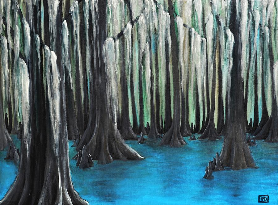 Cypress Painting - Cypress Spring by Holly Donohoe