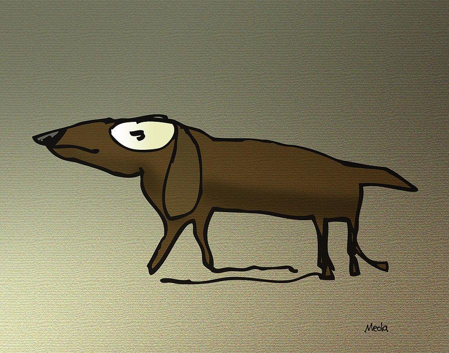 Dogs Digital Art - Dachshund by Daniel Meola