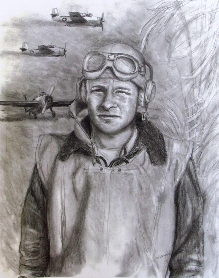Us Navy Drawing - Dad Ww2 by Jack Skinner