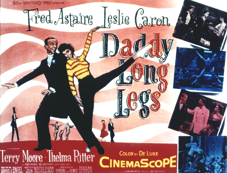 1955 Movies Photograph - Daddy Long Legs, Fred Astaire, Leslie by Everett