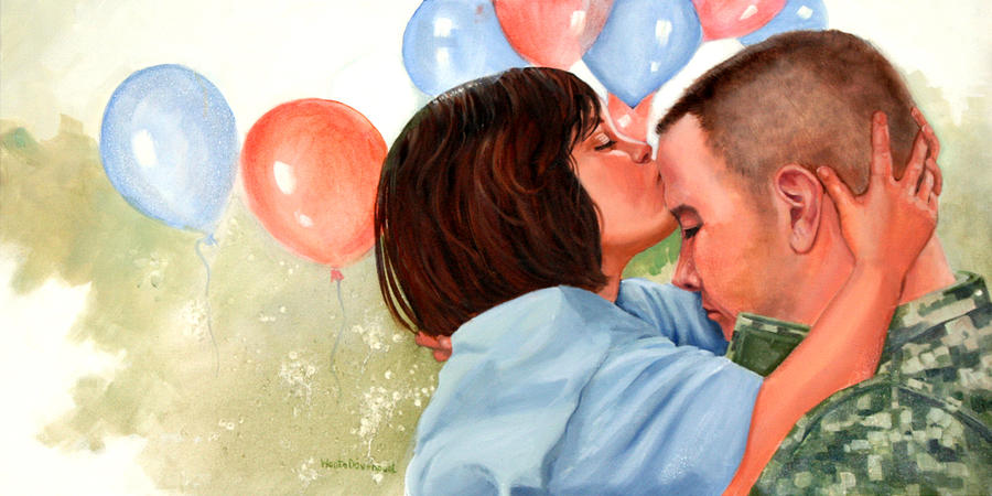 Balloons Painting - Dady This Is For Luck by Wanta Davenport