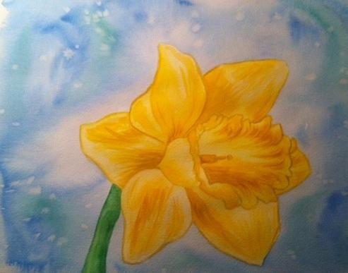 Flower Painting - Daffodile by Stephanie Reid