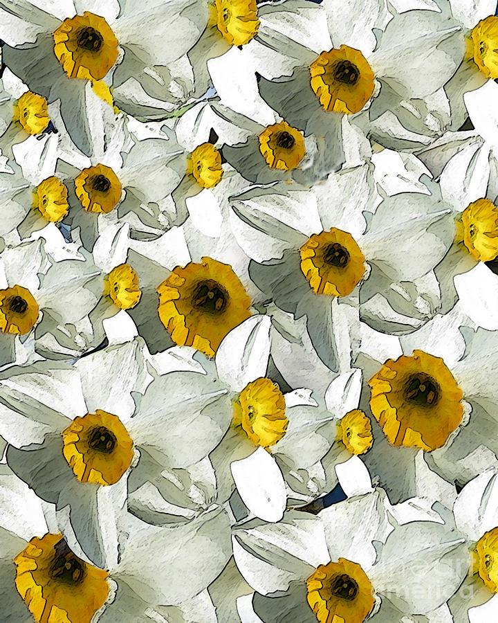 Daffodils Digital Art - Daffodils by Patricia Januszkiewicz