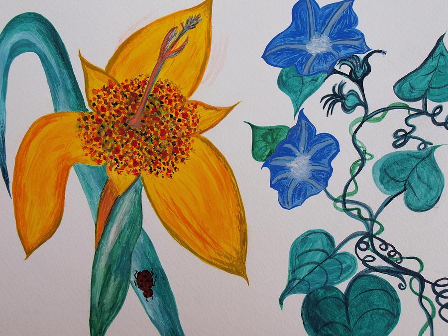 Ladybug Painting - Daffyclem by Joy Sparks
