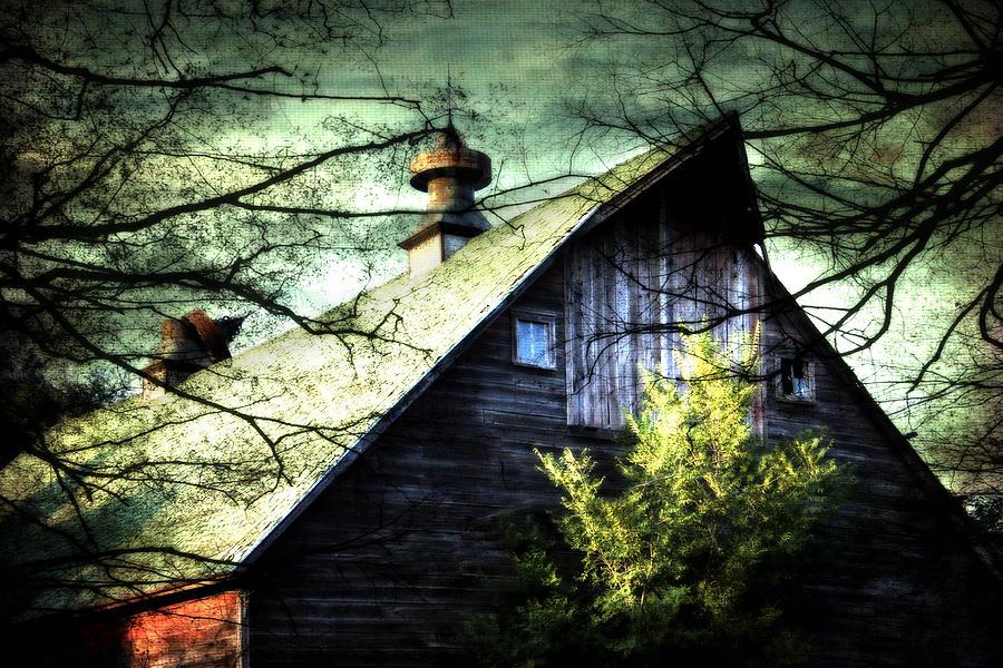 Night Fall Photograph - Dairy Barn by Julie Hamilton