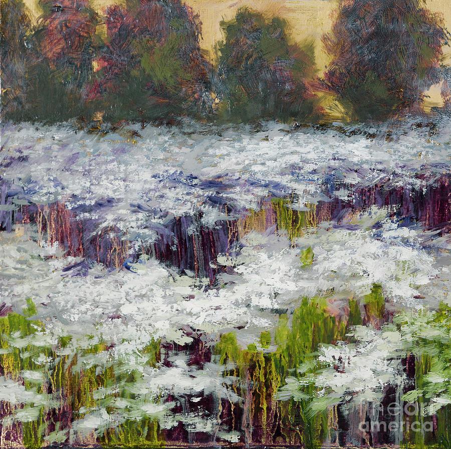 Shasta Daisy Painting - Daisy Field by Vic  Mastis