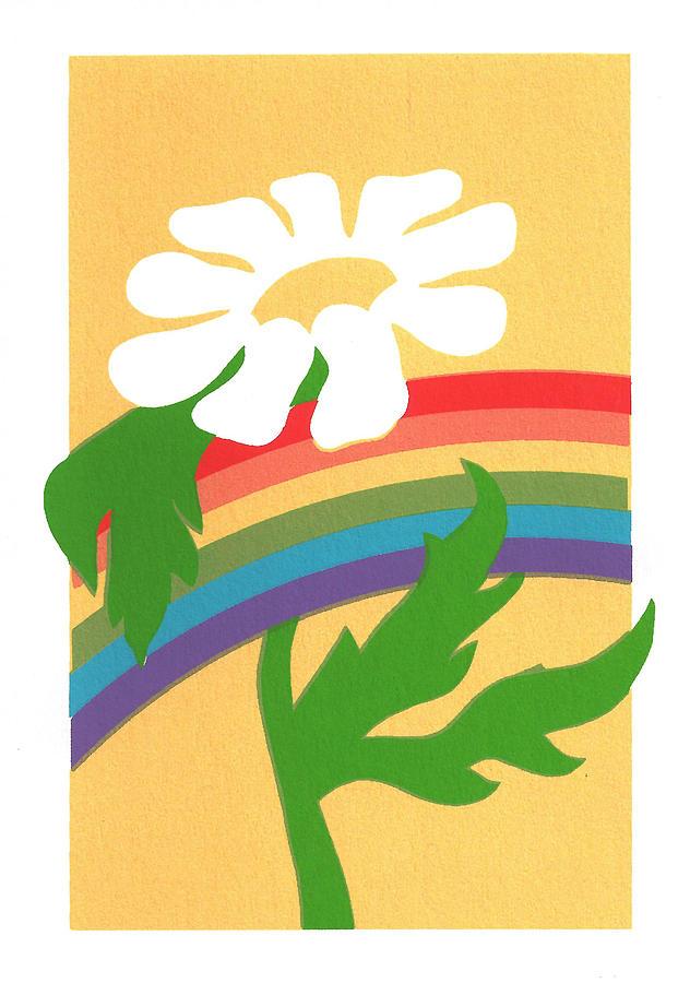 Rainbow Painting - Daisys Rainbow by Terry Taylor