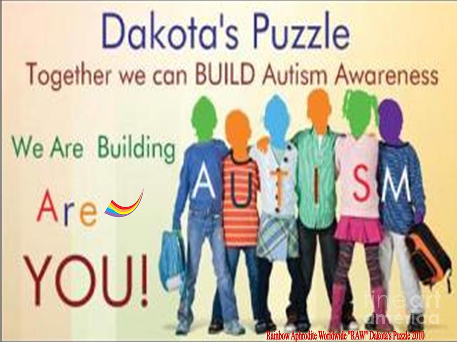 Autism Digital Art - Dakotas Puzzle Raw by Catherine Herbert