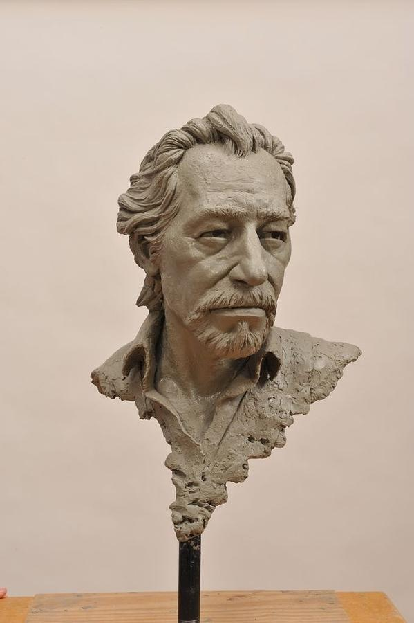 This Is A Portrait Of My Dear Friends Davis Leffel. Sculpture - DAL by Jason B Matthews