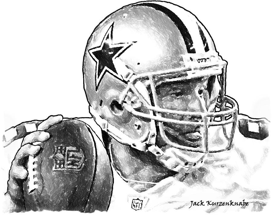 Dallas Cowboys Tony Romo Digital Art By Jack K