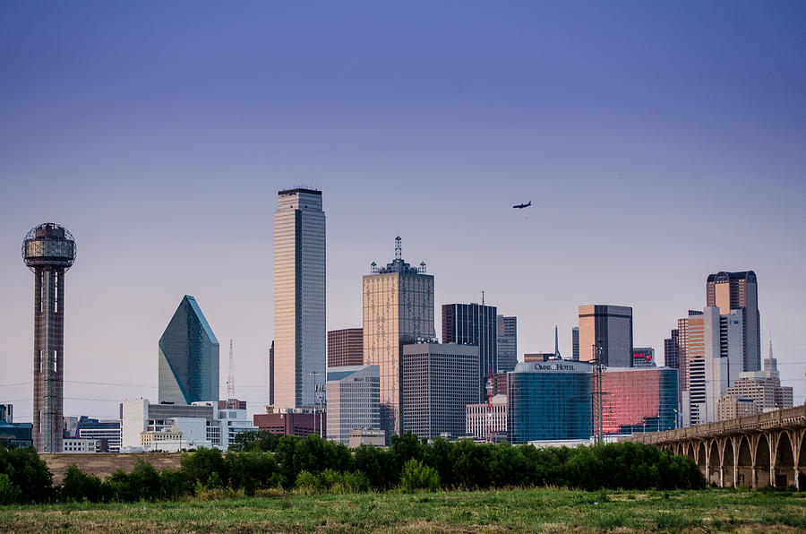 Dallas Skyline Painting By Dalton Aiken