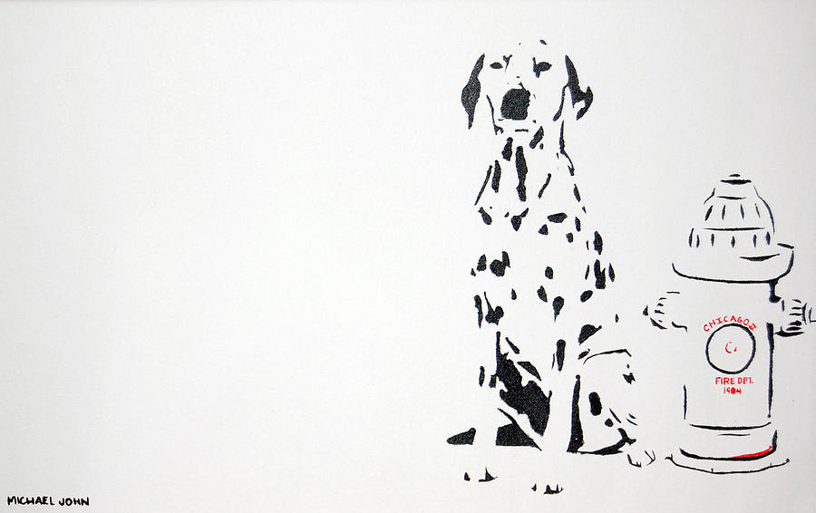 Dog Painting - Dalmatian by Michael Ringwalt