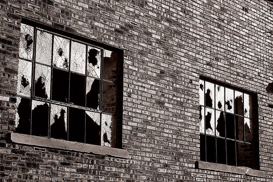 Brick Photograph - Damaged by Scott Hovind