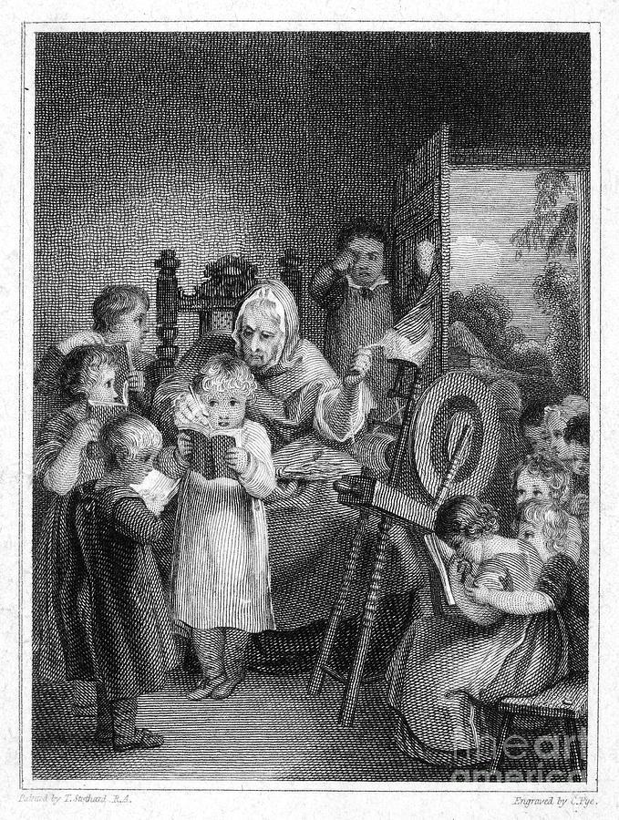 1812 Photograph - Dames School, 1812 by Granger