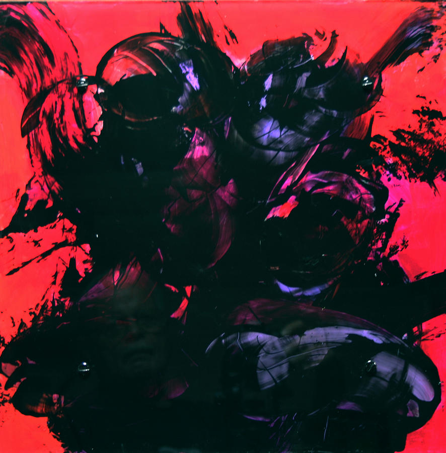 Abstract Painting - Damn Ms. Scarlet 1 by Mordecai Colodner