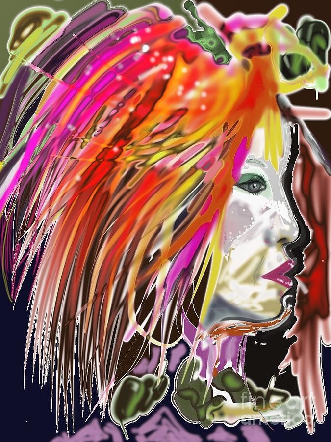 Neon Digital Art - Dana by Myrtle WILSON