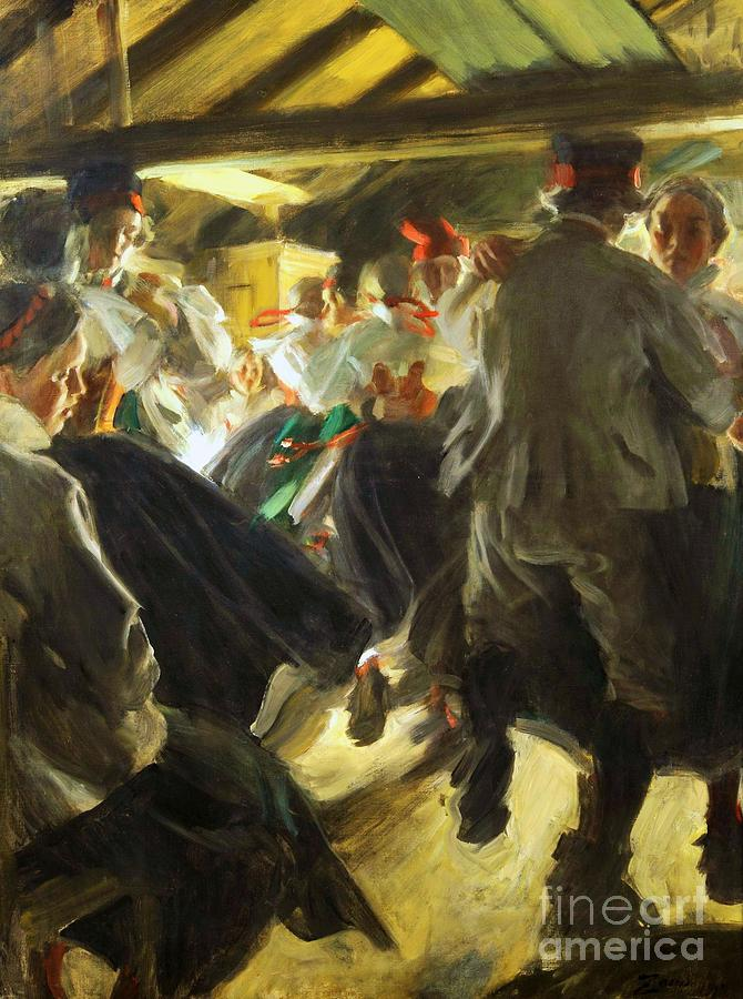 Pd Painting - Dance In Gopsmor by Pg Reproductions