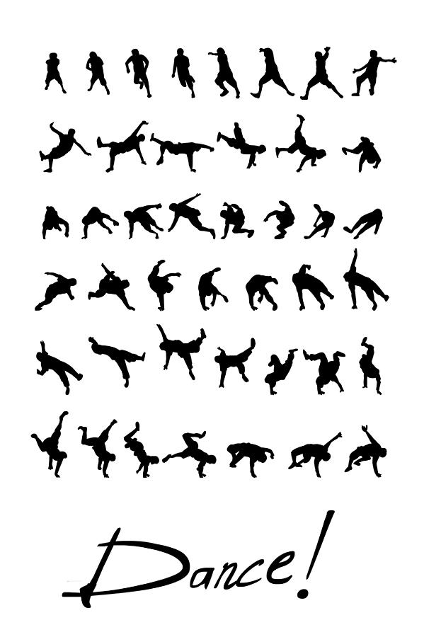 Breakdance Drawing - Dance by Netta Canfi