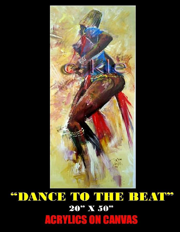 Dance To The Beat Painting by Clement Martey