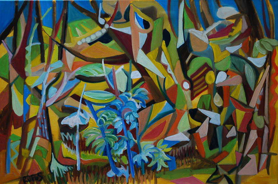 Woods Painting - Dancers of the Forests by Rufus Norman