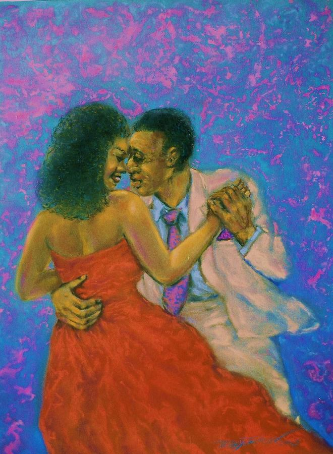 Man And Woman Dancing Pastel - Dancers by Terry Jackson