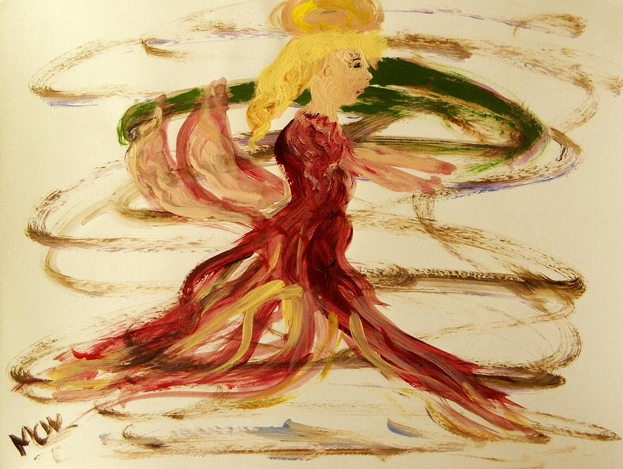 Angel Painting - Dancing Angel by Mary Carol Williams