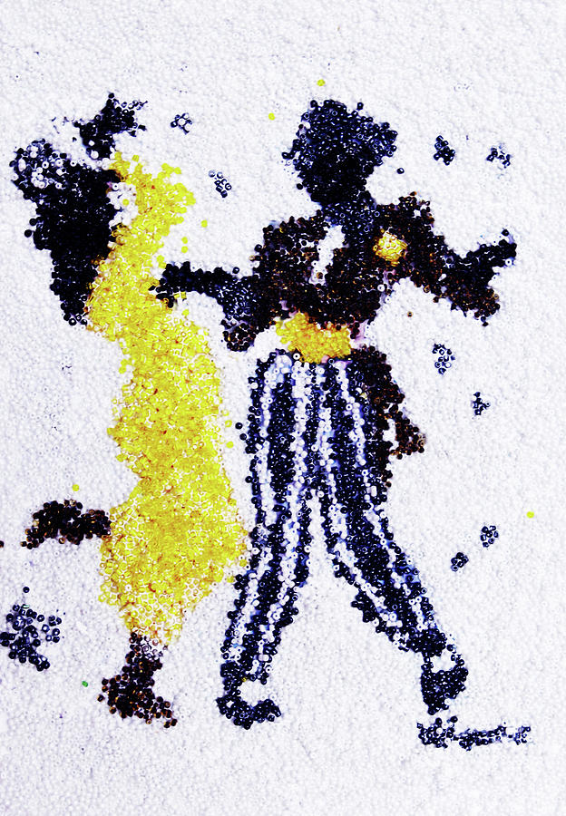 People Glass Art - Dancing Couple by Natalya A