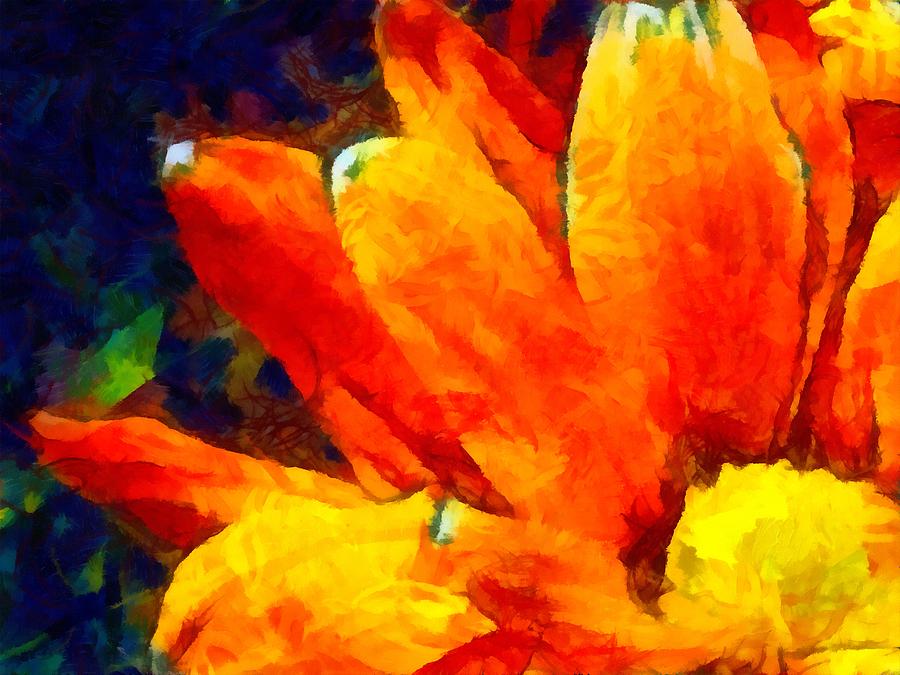 Daisy Mixed Media - Dancing Daisy 3 by Angelina Vick