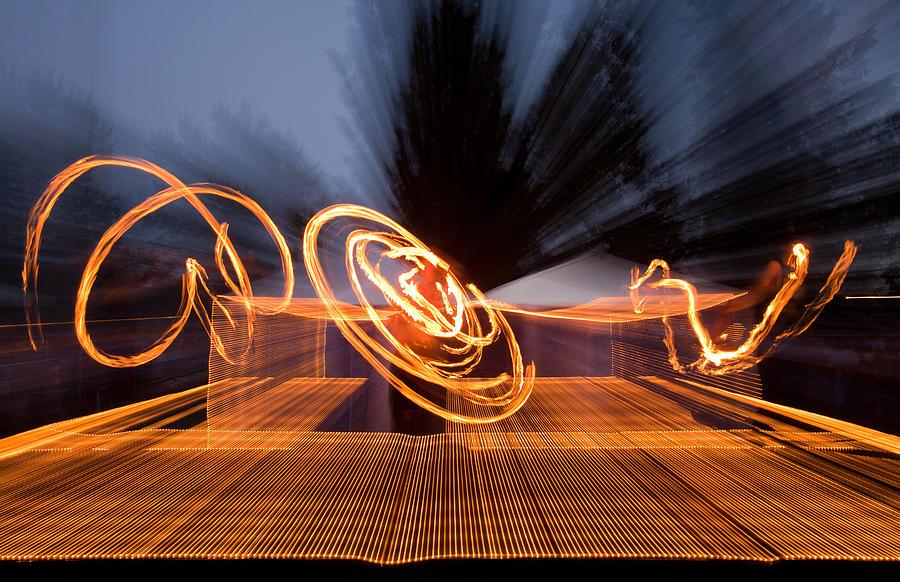 Fire Photograph - Dancing Fire by Marie-Dominique Verdier