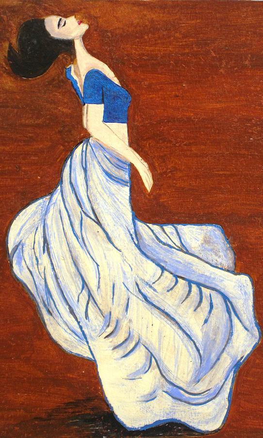Dancing Girl Painting - Dancing Girl -acrylic Painting by Rejeena Niaz