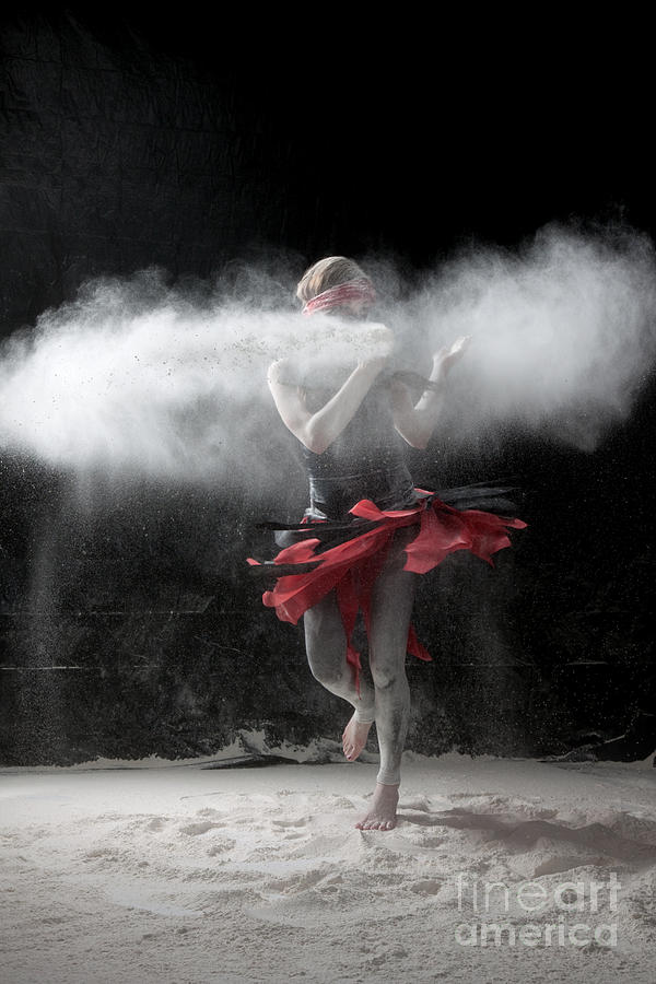 Dancing Photograph - Dancing In Flour Series by Cindy Singleton