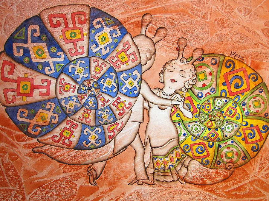 Tango Painting - Dancing-master by Khromykh Natalia