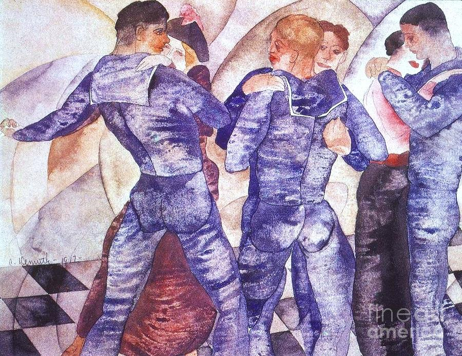 Pd Painting - Dancing Sailors by Pg Reproductions