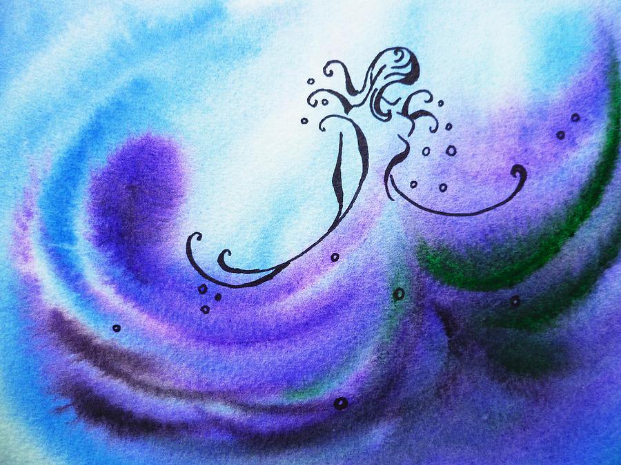 Abstract Painting - Dancing Water II by Irina Sztukowski