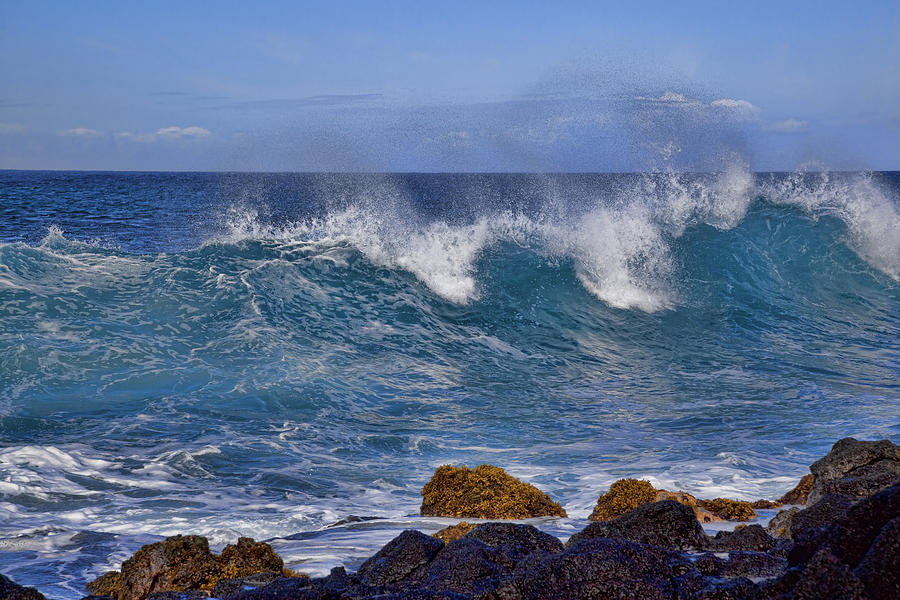 Blue Water Photograph - Dancing Water by Kelley King