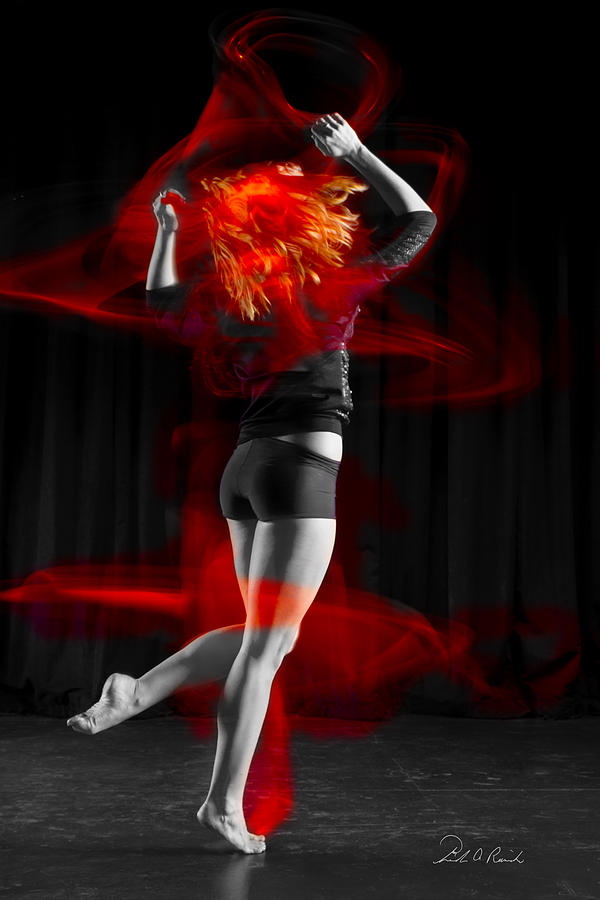 Abstract Photograph - Dancing With My Hair On Fire by Frederic A Reinecke