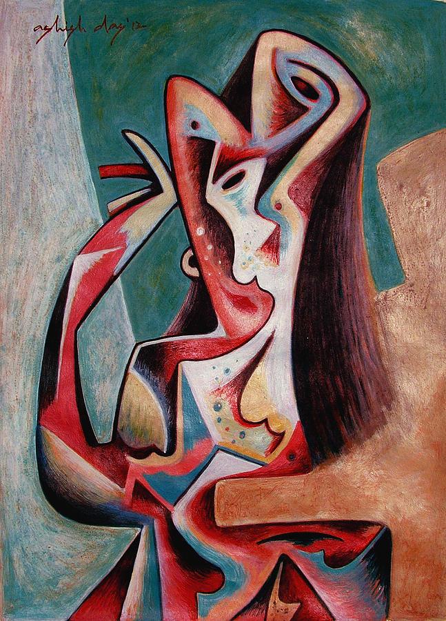 Woman Painting - Dancing Woman by Ashish Das