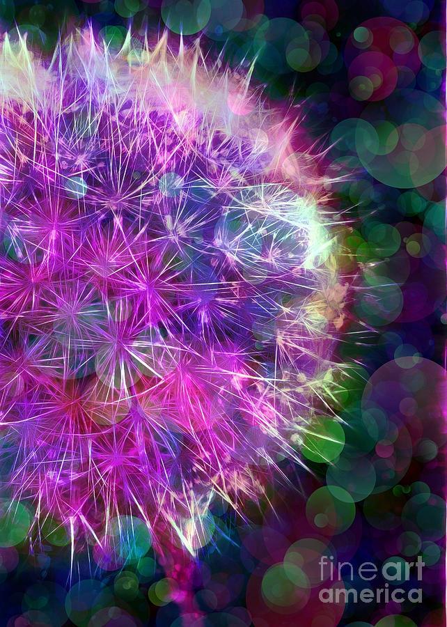 Dandelion Photograph - Dandelion Party by Judi Bagwell